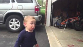 Baby's Adorable Reaction to the Garage Door Opener