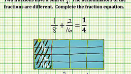 Find Two Fractions with Different Denominator with a Given Sum (Common Core 5/6 Math Ex 9)