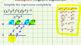 Ex 3: Simplify an Exponential Expression with Negative Exponents