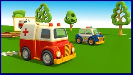 Kid's 3D Construction Cartoons For Children 17  Leo And The Ambulance