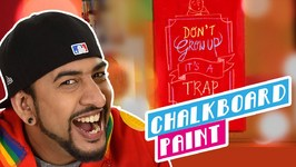 Mad Stuff With Rob - How To Make Chalkboard Paint- DIY Craft For Children