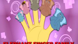 Elephant Finger Family - Daddy Finger Rhymes For Children