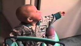 Baby Laughs Hysterically At Dad Gargling Mouthwash