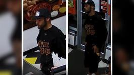 Dumb Criminal Wears Crime Pays T-shirt As He Tries To Rob Little Caesars