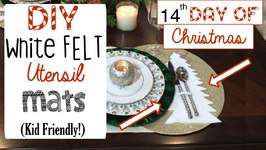 Diy Christmas Tree Utensil Mat (Family Project!)  14th Day Of Christmas 2015!
