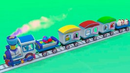 Kids Cartoons In 3D Animation  Train Journey