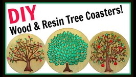 Wood and Resin Tree Coasters  DIY Project  Another Coaster Friday  Craft Klatch  How To
