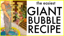 DIY Giant Bubbles. Fail proof easiest recipe ever