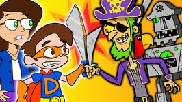Super Drew Pendous and Ms. Booksy Battle the Pirates of Treasure Island - A Superhero Story