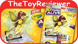 Enchanted Forest Crayola Color Alive Action Coloring Pages Unboxing Toy Review