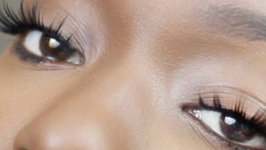 How To Apply Big Cheap False Lashes
