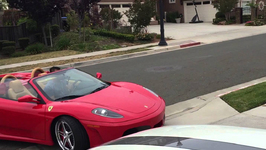 Beautiful Ferrari F430 Spyder too down just getting out back into the garage before we head to GR7!!