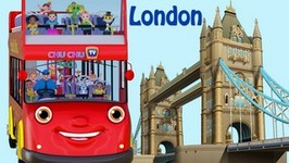Wheels On The Bus Go Round And Round Song  London City  Popular Nursery Rhymes by ChuChu TV