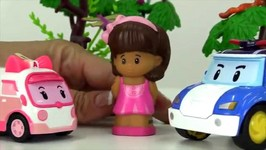 Toy Car Rescue Stories - Doctors And Nurses  Doctor Robocar Poli And Nurse Amber
