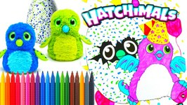 hatchimals coloring book pages speed coloring tiana hearts by tianahearts