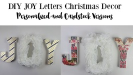 DIY Christmas Decor: Personalized JOY letters by Home Made Luxe Subscription Box