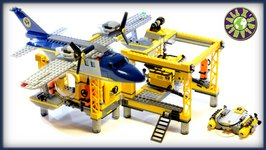 Lego City Deep Sea Explorers Deep Sea Operations Base 60096 Stop Motion Review  ALEXSPLANET