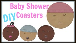 How To Baby Shower Coaster Favors or Mother's Day Gifts  Craft Klatch Another Coaster Friday DIY
