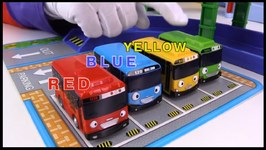 Tayo Catapult  Toy Cars Clown And Tayo Bus Garage - Learn Colors - Learn Numbers