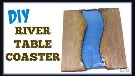 River Table Inspired Drink Coaster DIY  Craft Klatch Another Coaster Friday How To