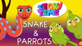 Snake and Parrots - Surprise Eggs Toys ChuChu TV Story Time, Bedtime Moral Stories for Kids in English