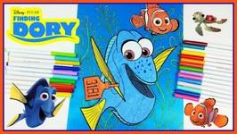 Disney Coloring Book Finding Dory Finding Nemo Pixar Color - Episode 2
