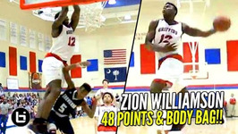 Zion Williamson 48 Points And Dunks On Everyone But The Coach Full Highlights