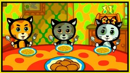 Kids Cartoons - FUN WITH FOOD  - 3 Cat  Cartoons For Children