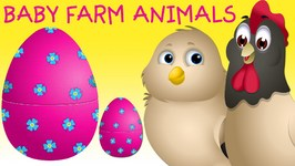Surprise Eggs Baby Farm Animals Toys  Learn Baby Animals And Animal Sounds  Chuchu TV Kids Surprise