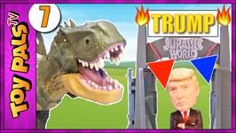 Trump Jurassic World Dinosaur Park Grand Opening Toys Video 7 T-Rex Hybrid  Toy Dinosaurs Review