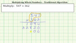 Multiply Two 3 Digit Whole Numbers - Traditional