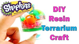 How To Make A Custom Shopkins Season 5 Snow Globe Resin Craft - EASY DIY