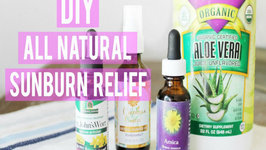 DIY - All Natural Sunburn Relief Spray
