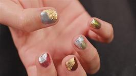 How to Paint Your Nails in Gold and Silver Patterns