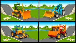 Construction Trucks And Vehicles - 3D Learning Cartoons - Children's Videos