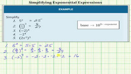 Simplify Basic Exponential Expressions