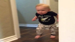 Baby Has Amazing Reaction To Grandpa's Roar