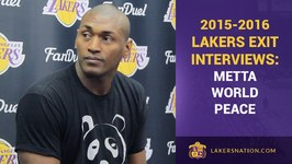 Metta World Peace Lakers Exit Interview Byron Scott For Coach Of The Year