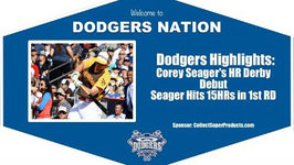 Dodgers Highlights: Corey Seager Hits 15HRs in Home Run Derby Debut