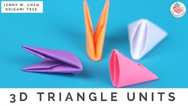 How to Fold 3D Origami Pieces - Make the 3D Origami Triangle Units (3D Origami Basics)