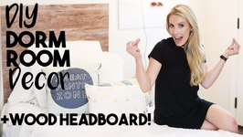 Dorm Room Decorating  Dorm DIY Wood Headboard  Small Apartment Decorating Tips!