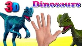 Finger Family Dinosaur Cartoons Rhymes - 3D Animals Cartoon Finger Family Rhymes for Children