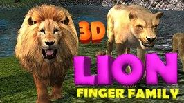Lion Finger Family 3D  Animals Cartoons Finger Family Children Nursery Rhymes
