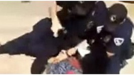 Police Punch, Tase & Choke Black Teen Girl Outside Mall on Video