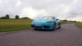 Porsche 718 Cayman S Miami Blue Driving Video
