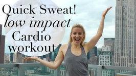 Low Impact Cardio Workout- No Jumping Fat Burning Cardio