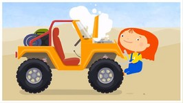 Doc McWheelie - Save A Desert Jeep   ATV Car Cartoons For Children