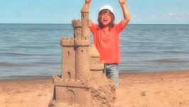 This is Emily Yeung Building a Sand Sculpture