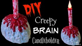 Brain Candleholder  Craft Klatch  Halloween DIY
