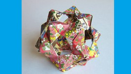 Origami Bucky Ball - Dodecahedron -30 PHIZZ Units - Origami Flower Ball